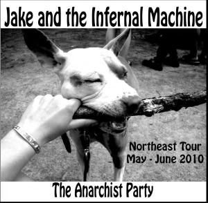 The Anarchist Party: Live in 2010, 20 songs, $5 plus shipping and handling. Email Jake for ordering info/deals Trenchesfullofpoets (at) riseup.net